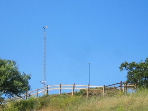 The DRI weather stations, installed 2011
